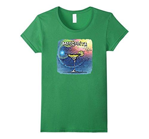 Womens Margarita Recipe T-Shirt Small Grass