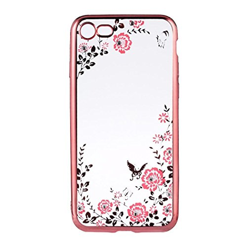 Meflying Soft TPU Rhinestone Flower Phone Case Clear Back Cover For iPhone/Bags & Cases