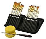 Paint Brushes, Painting Supplies, 15 Acrylic