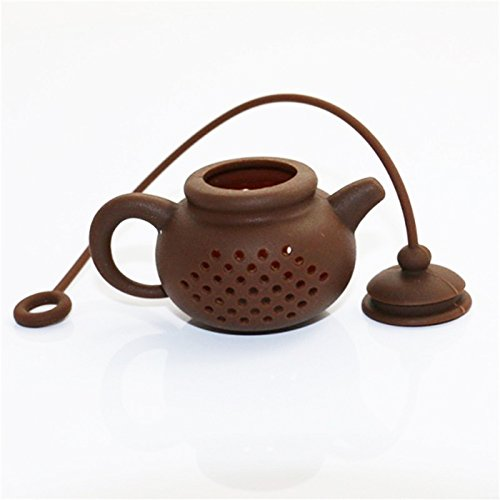 Funnytoday365 Creative Silicone Tea Bag Tea Pot Shape Tea Filter Safely Cleaning Infuser by FunnyToday365 (Image #3)