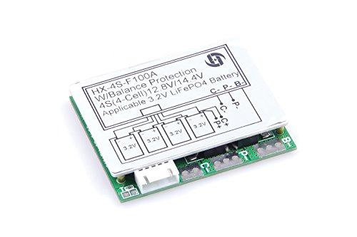 KNACRO 3.2V 4S 100A 12V w/ Balance LiFePo4 LiFe LFP 18650 Battery BMS Protection PCB Board