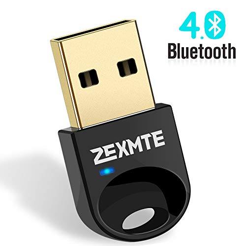 ZEXMTE Updated Driver Bluetooth USB Adapter for PC USB Bluetooth Dongle 4.0 Wireless Micro Adapter Compatible with Windows 10 8.1 8 7 Vista XP, for Desktop, Laptop