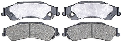 ACDelco 14D729CH Advantage Ceramic Rear Disc Brake Pad Set with Hardware ()