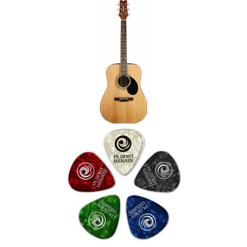 Jasmine S35 Acoustic Guitar, Natural Bundle by Jasmine