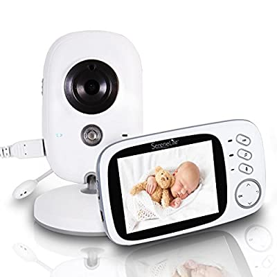 "SereneLife Wireless Video Baby Monitor - Dual System w/ Temperature Thermometer Sleep Camera, 3.2"" Digital Color Screen Wireless Rechargeable Battery, Audio Speaker and Portable Mobile Clip - SLBCAM20 from Sound Around"
