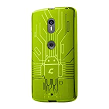 Moto X Play Case, Cruzerlite Bugdroid Circuit TPU Case Compatible with Motorola Moto X Play 2015 (3rd Generation) - Green