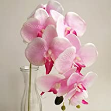 jiumengya 5pcs 78cm (7 heads/piece) Phalaenopsis Butterfly Moth Orchid Thai Orchids for Wedding Centerpiece Decorative Artificial Flowers (pink)