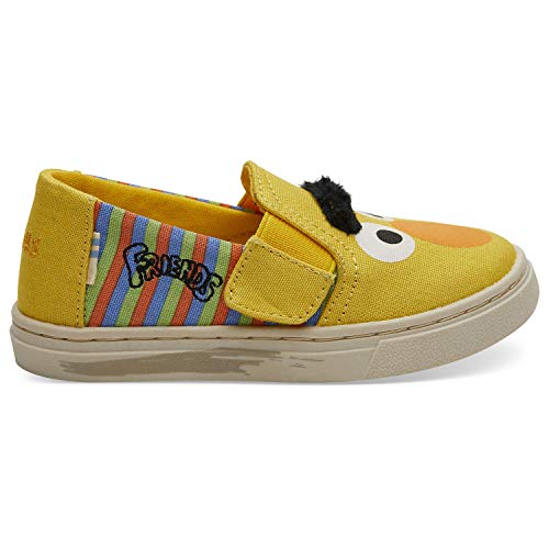 (TOMS Sesame Street X Bert and Ernie Face Tiny Luca Slip-Ons 10013641 (Size: 5) Yellow )