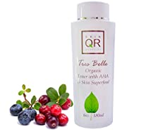 Skin QR Organics Tres Belle Organic BrighteningToner with AHA & Skin Superfood, 6oz by Skin QR Organics