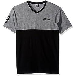 Zoo York Men's Short Sleeve Preseason V Neck Knit Shirt, High Rise Heather, X-Large
