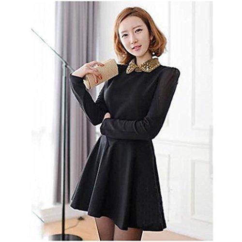 寛容用心水没婦人長袖シースビーズ新しいスタイルのドレス