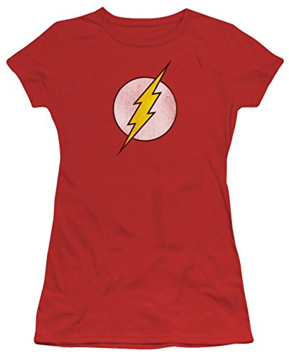 The Flash Distressed Logo Juniors T-Shirt