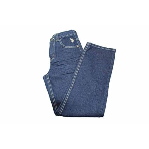 wholesale Spursgrl U.S Polo ASSN. Boys Dark Crinkle Straight Jeans big discount