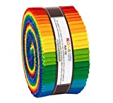 Kona Cotton Bright Rainbow Roll - Jelly Roll Robert Kaufman