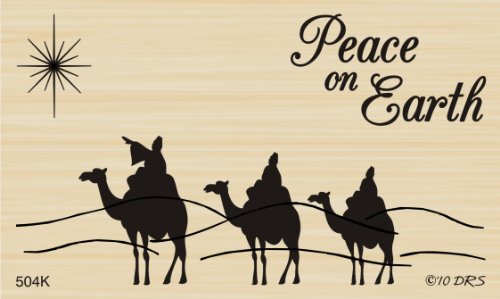 - Three Wisemen Peace Rubber Stamp By DRS Designs