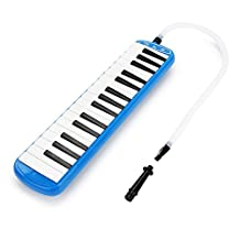 Blue 32 Key Portable Melodica With Carrying Bag For Music Lovers Beginners Gift