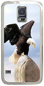 Bald Eagle Landing Animal Samsung Galaxy S5 Case with Transparent Skin