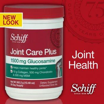 Schiff commune plus sans poudre w / glucosamine chondroïtine MSM et collagène - 13,48 oz / 382,2 grammes