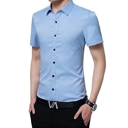 DeLamode - Camiseta de tirantes - para hombre azul claro