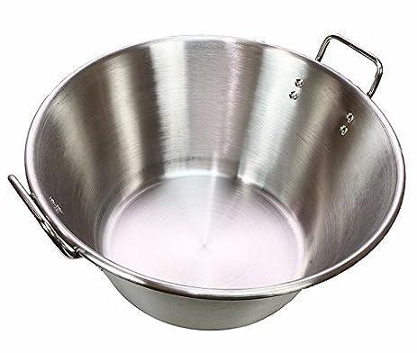 """GHP 16"""" Portable Gas Stove Carnitas Cazo Stainless Steel Caso Pot Pan - 16"""""""