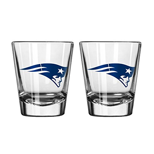 Nfl Wine (NFL New England Patriots Game Day Shot Glass, 2-ounce, 2-Pack)