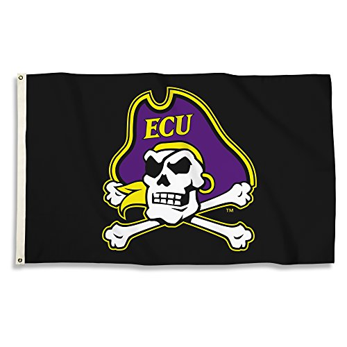 NCAA East Carolina Pirates 3 x 5-Feet Flag with Grommets, Team Color, One Size