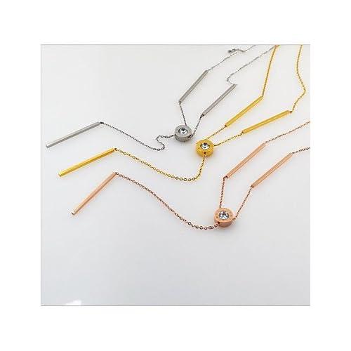 MJW&XL Femme Forme Mode Adorable Pendentif de collier Colliers chaînes Strass Cuivre Plaqué or Pendentif de collier Colliers chaînes Mariage