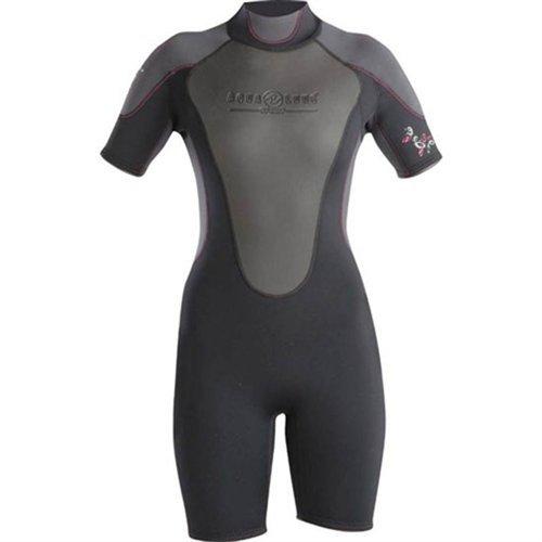 Aqua LungスポーツレディースQuantumストレッチShorty B00ITCB1HC 15/16|ブラック/ピンク ブラック/ピンク 15/16