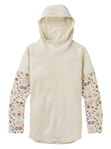 - Burton Women's Hixon Pullover, Vanilla Heather/Vanilla Heather Fresh Pressed, X-Small