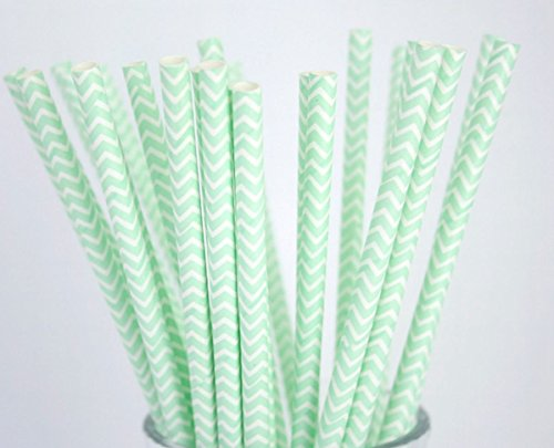 Funny Sims Costumes (25x Chevron Paper Straws,Wedding Bridal,Baby Shower,Event Party Drinking Straws Color : Mint Green)