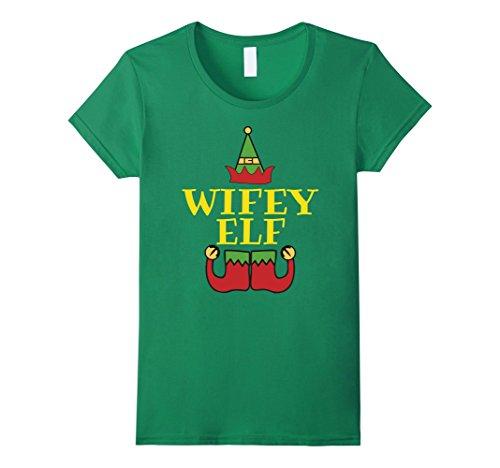 Women's Christmas Family Shirt Set Wifey Elf T-Shirt Coup...