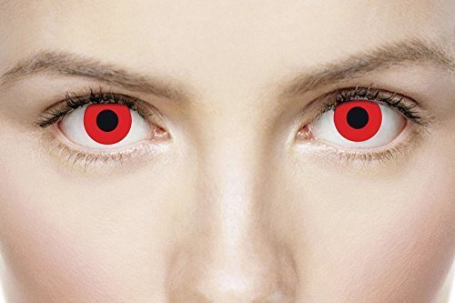 Ladies Mens Adults Red Vampire Halloween Horror Rave Party Scary Eye Fancy Dress Accessory]()