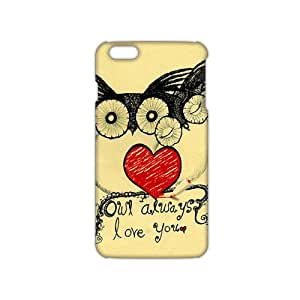 2015 Ultra Thin Cartoon lovely owl 3D Phone Case for iPhone 6