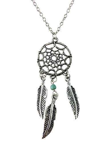 Dastan Dangling Feather & Wings Tassel Bead Necklace Bohemia Dream Catcher