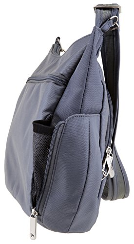 Travelon Anti-Theft Cross-Body Bucket Bag (Pewter) by Travelon (Image #1)