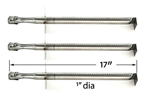 3 Pack Replacement Stainless Steel Burner for Great Outdoors GP450, GP600, Pinnacle GP400, TG560, TG560N, Jenn Air & Vermont Castings VCS3500BI, VCS3505, VCS3505BI Model Grills
