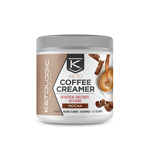 KetoLogic Ketogenic MCT Oil Coffee Creamer Powder – Low-Carb, Keto, Paleo-Friendly – Mocha – 30 Servings