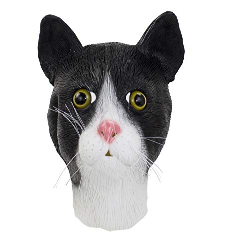 stylesilove Halloween Cosplay Dress Up Funny Animal Cartoon Head Latex Mask (Funny Cat) ()