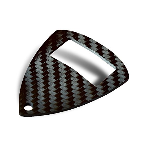 Carbon Fiber Bottle Opener Keychain by Centri Designs - Carbon Fiber Bottle