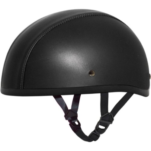 Leather Covered Motorcycle Helmet - 1