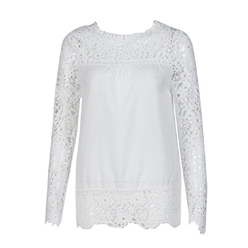 Femme Shirt T Mode couleurs coton shirt 9 longues Tops manches Chemisier Dentelle Blanc S XXXXXL Transer Casual ample Femmes Blouse YwnqO5xaE