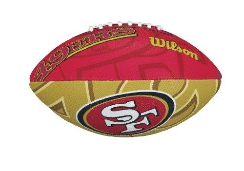 Wilson NFL  Junior Team Logo Football (San Francisco (Nfl Team Logo Football)
