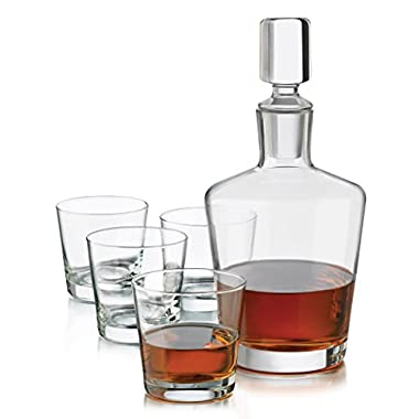Libbey 128YS4 6 Piece Whiskey Decanter, Clear