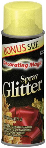 Chase Research Decorating Magic Spray Glitter, 6-Ounce, Gold