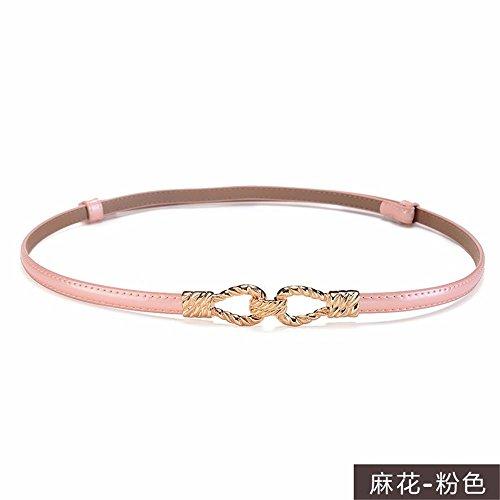 Decorative fine E Dress Belt Leather Belt Woman Chain Waist Q Fashion xA1wnRgT