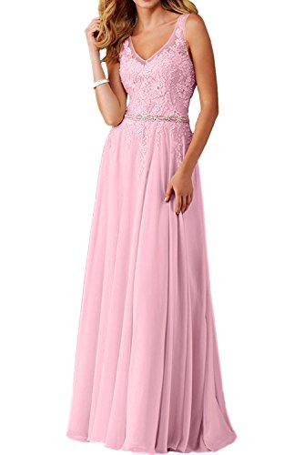 Abendkleid lang rosa gebraucht