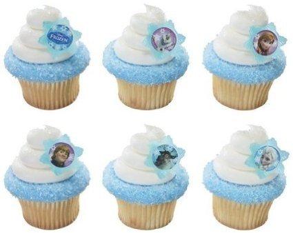 Quantumchaos 36 ~ Disney Frozen Adventure Friends Rings ~ Designer Cake/Cupcake Topper ~ New -