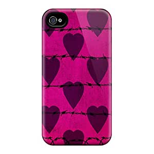 LvxHZvM4167tXBYe Anti-scratch Case Cover Jesussmars Protective Barbwire I4 Pink Case For Iphone 4/4s