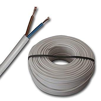 H03VV-F 2x0,75mm² PVC Schlauchleitung schwarz 100 Meter Ring