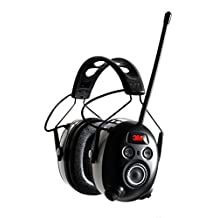 3M Worktunes Wireless Bluetooth Hearing Protection Earmuff with AM/FM Radio, Black/Gray